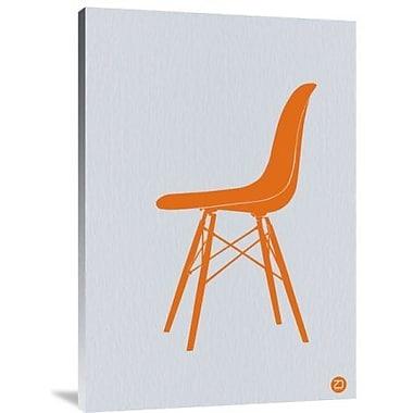 Naxart 'Orange Eames Chair' Graphic Art Print on Canvas; 36'' H x 25'' W x 1.5'' D