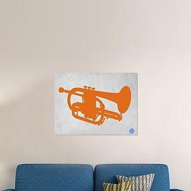 Naxart 'Orange Tuba' Graphic Art Print on Canvas; 30'' H x 40'' W x 1.5'' D
