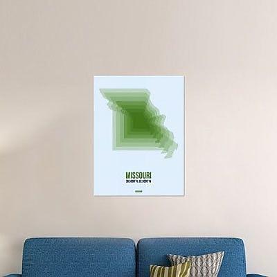 Naxart 'Missouri Radiant Map 2' Graphic Art Print on Canvas; 32'' H x 24'' W x 1.5'' D