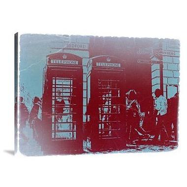 Naxart 'London Telephone Booth' Photographic Print on Canvas; 12'' H x 16'' W x 1.5'' D
