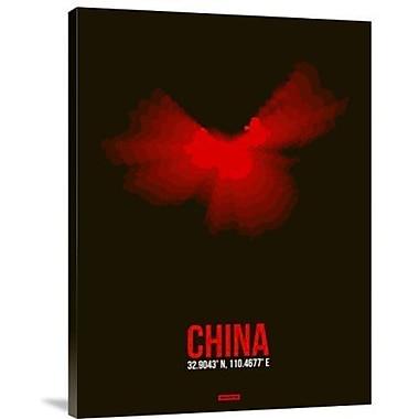 Naxart 'China Radiant Map 1' Graphic Art Print on Canvas; 32'' H x 24'' W x 1.5'' D