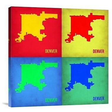 Naxart 'Denver DC Pop Art Map 1' Graphic Art Print on Canvas; 24'' H x 24'' W x 1.5'' D