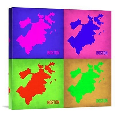 Naxart 'Boston Pop Art Map 1' Graphic Art Print on Canvas; 30'' H x 30'' W x 1.5'' D