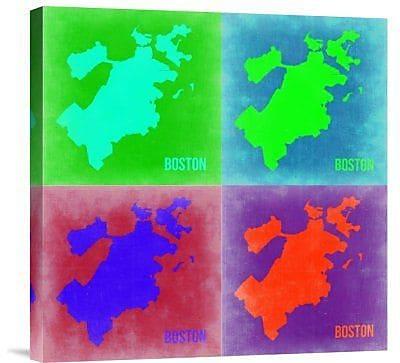 Naxart 'Boston Pop Art Map 2' Graphic Art Print on Canvas; 24'' H x 24'' W x 1.5'' D