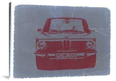 Naxart 'BMW 2002 Front' Graphic Art Print on Canvas; 12'' H x 16'' W x 1.5'' D