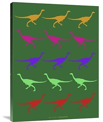 Naxart 'Dinosaur Family 4' Graphic Art Print on Canvas; 40'' H x 30'' W x 1.5'' D