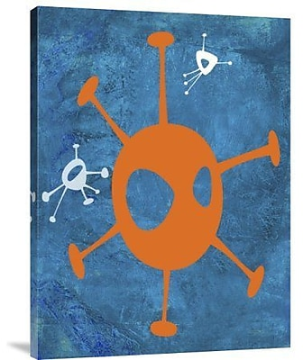 Naxart 'Abstract Splash Theme 17' Graphic Art Print on Canvas; 32'' H x 24'' W x 1.5'' D
