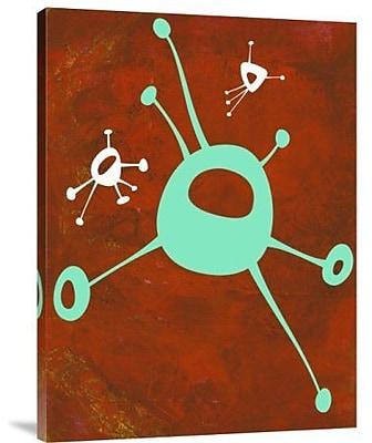 Naxart 'Abstract Splash Theme 19' Graphic Art Print on Canvas; 40'' H x 30'' W x 1.5'' D