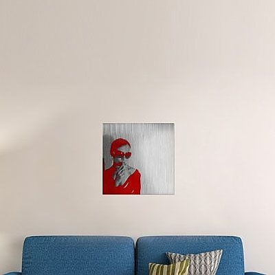 Naxart 'Zoe in Red' Graphic Art Print on Canvas; 40'' H x 40'' W x 1.5'' D