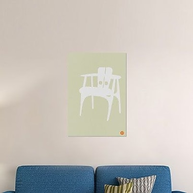 Naxart 'Wooden Chair' Graphic Art Print on Canvas; 36'' H x 25'' W x 1.5'' D