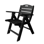 POLYWOOD  Nautical Dining Chair; Black