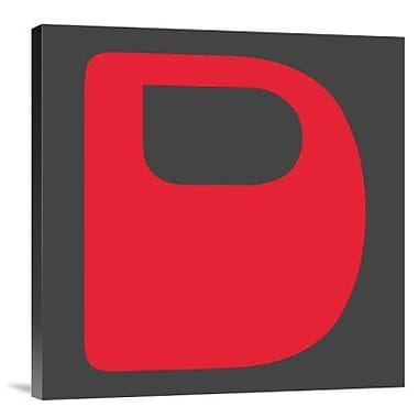 Naxart 'Letter D Red' Graphic Art Print on Canvas; 18'' H x 18'' W x 1.5'' D