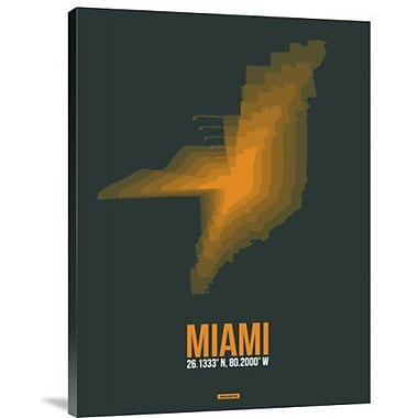 Naxart 'Miami Radiant Map 4' Graphic Art Print on Canvas; 24'' H x 18'' W x 1.5'' D
