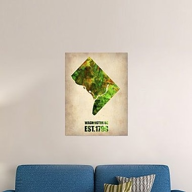 Naxart 'Washington DC Watercolor Map' Graphic Art Print on Canvas; 24'' H x 18'' W x 1.5'' D