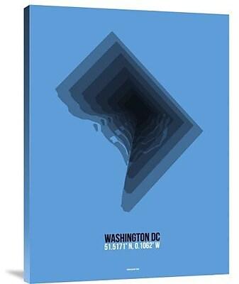 Naxart 'Washington DC Radiant Map 2' Graphic Art Print on Canvas; 16'' H x 12'' W x 1.5'' D