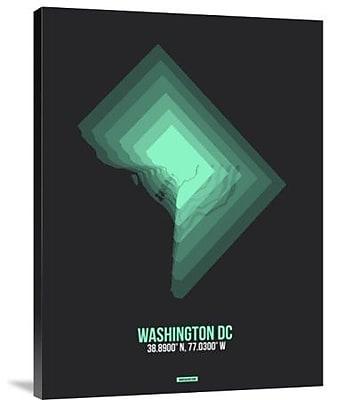 Naxart 'Washington DC Radiant Map 3' Graphic Art Print on Canvas; 32'' H x 24'' W x 1.5'' D