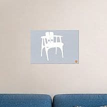 Naxart 'White Wooden Chair' Graphic Art Print on Canvas; 25'' H x 36'' W x 1.5'' D