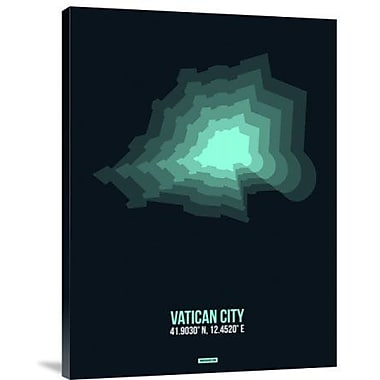 Naxart 'Vatican City Radiant Map 3' Graphic Art Print on Canvas; 24'' H x 18'' W x 1.5'' D