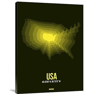 Naxart 'USA Radiant Map 3' Graphic Art Print on Canvas; 40'' H x 30'' W x 1.5'' D