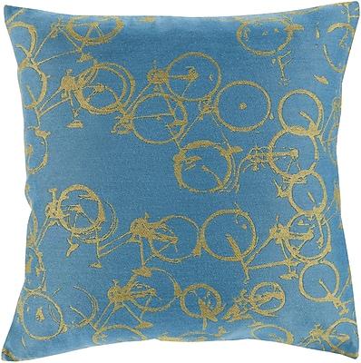Brayden Studio Alpha Throw Pillow; Blue/Green