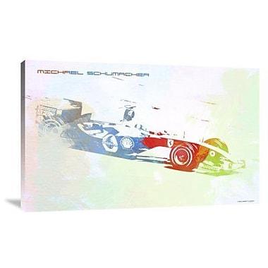 Naxart 'Michael Schumacher' Graphic Art Print on Canvas; 19'' H x 30'' W x 1.5'' D
