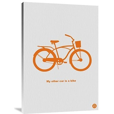 Naxart 'My Other Car is a Bike' Graphic Art Print on Canvas; 36'' H x 25'' W x 1.5'' D