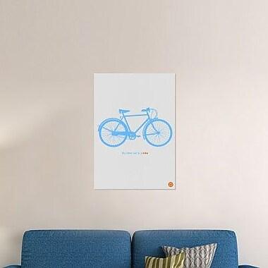 Naxart 'My Other Car is a Blue Bike' Graphic Art Print on Canvas; 40'' H x 28'' W x 1.5'' D