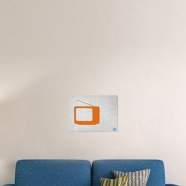 Naxart 'Orange TV Vintage' Graphic Art Print on Canvas; 30'' H x 40'' W x 1.5'' D