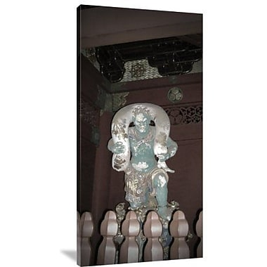 Naxart 'Nikko Green Figure' Photographic Print on Canvas; 24'' H x 12'' W x 1.5'' D