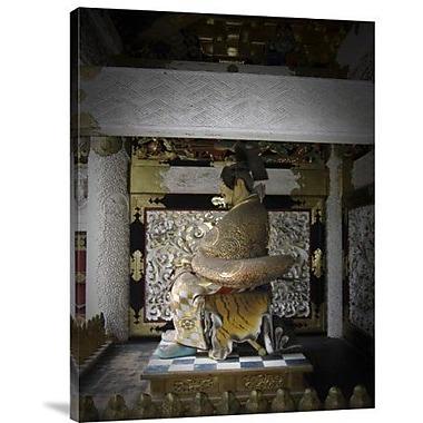 Naxart 'Nikko Golden Sculpture' Photographic Print on Canvas; 16'' H x 12'' W x 1.5'' D