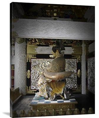 Naxart 'Nikko Golden Sculpture' Photographic Print on Canvas; 40'' H x 30'' W x 1.5'' D