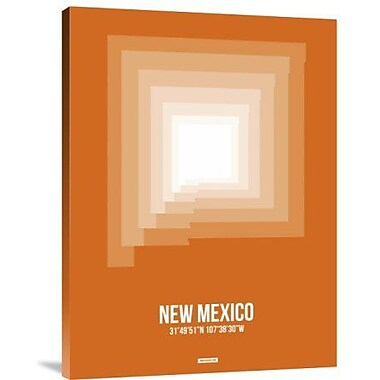 Naxart 'New Mexico Radiant Map 3' Graphic Art Print on Canvas; 24'' H x 18'' W x 1.5'' D