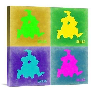 Naxart 'Dallas Pop Art Map 2' Graphic Art Print on Canvas; 18'' H x 18'' W x 1.5'' D