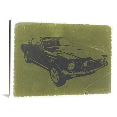 Naxart '1968 Ford Mustang' Graphic Art Print on Canvas; 18'' H x 24'' W x 1.5'' D