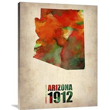 Naxart 'Arizona Watercolor Map' Graphic Art Print on Canvas; 32'' H x 24'' W x 1.5'' D
