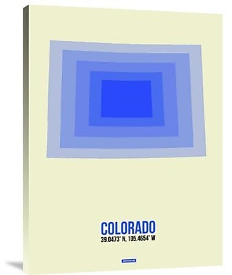 Naxart 'Colorado Radiant Map 2' Graphic Art Print on Canvas; 24'' H x 18'' W x 1.5'' D