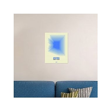 Naxart 'Arizona Radiant Map 2' Graphic Art Print on Canvas; 24'' H x 18'' W x 1.5'' D