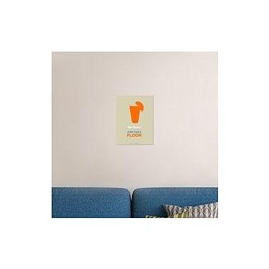 Naxart 'Orange Tequila Shot' Graphic Art Print on Canvas; 16'' H x 12'' W x 1.5'' D