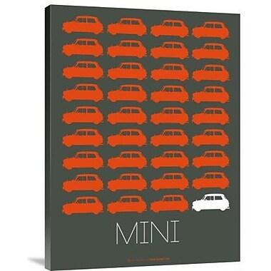 Naxart 'Orange Mini Cooper' Graphic Art Print on Canvas; 24'' H x 18'' W x 1.5'' D