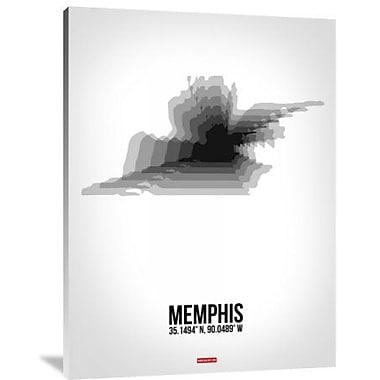 Naxart 'Memphis Radiant Map 5' Graphic Art Print on Canvas; 40'' H x 30'' W x 1.5'' D