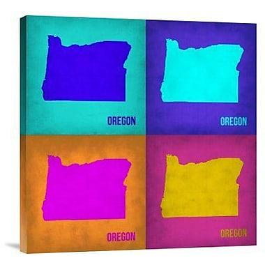 Naxart 'Oregon Pop Art Map1' Graphic Art Print on Canvas; 36'' H x 36'' W x 1.5'' D
