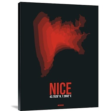 Naxart 'Nice Radiant Map 3' Graphic Art Print on Canvas; 32'' H x 24'' W x 1.5'' D