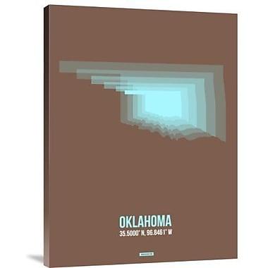 Naxart 'Oklahoma Radiant Map 2' Graphic Art Print on Canvas; 16'' H x 12'' W x 1.5'' D