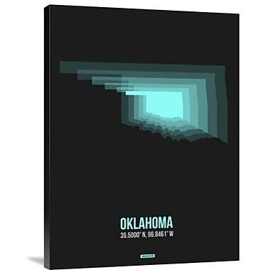 Naxart 'Oklahoma Radiant Map 6' Graphic Art Print on Canvas; 40'' H x 30'' W x 1.5'' D