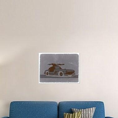 Naxart 'Mercedes Benz 300' Graphic Art Print on Canvas; 24'' H x 32'' W x 1.5'' D