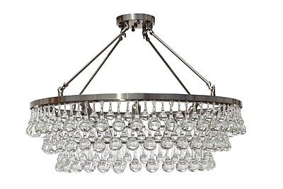 Willa Arlo Interiors Fabrice 10-Light Crystal Chandelier; Brushed Nickel