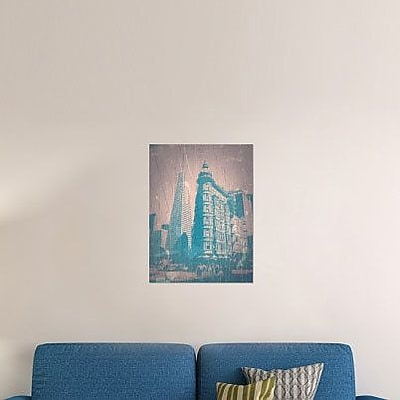 Naxart 'San Francisco' Graphic Art Print on Canvas; 24'' H x 18'' W x 1.5'' D