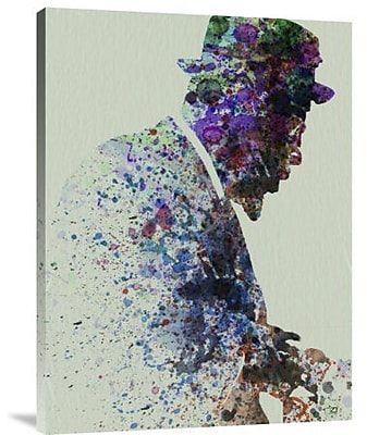 Naxart 'Thelonious Monk Watercolor 1' Graphic Art Print on Canvas; 32'' H x 24'' W x 1.5'' D