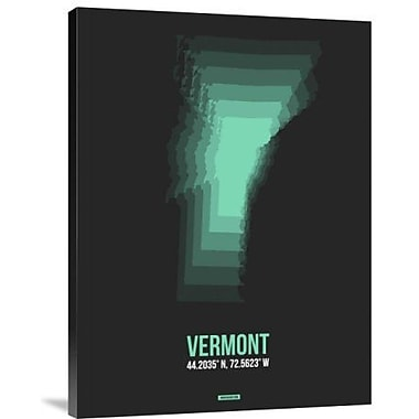 Naxart 'Vermont Radiant Map 6' Graphic Art Print on Canvas; 40'' H x 30'' W x 1.5'' D