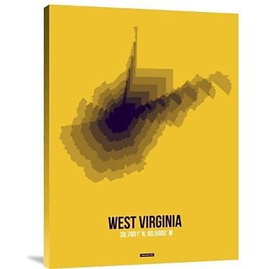 Naxart 'West Virginia Radiant Map 3' Graphic Art Print on Canvas; 16'' H x 12'' W x 1.5'' D
